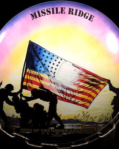 Discraft Full Color ESP BUZZZ Golf Disc soldier silhouette artwork Freedom Artist, Mark John Paul