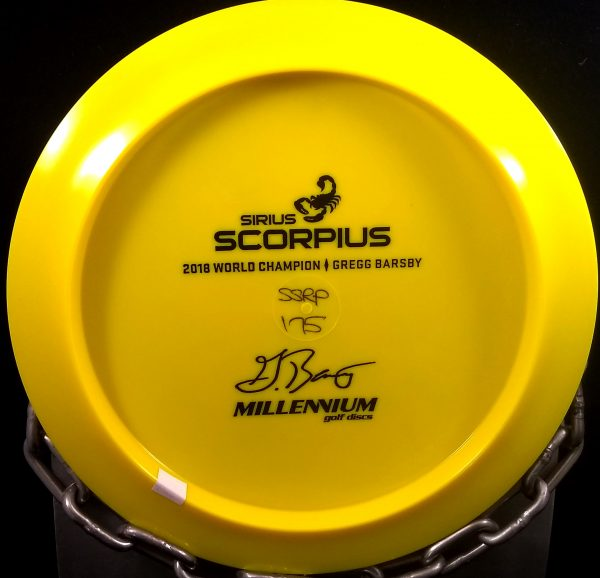 Gregg Barsby 2018 World Champion Millennium Bottom Stamp Sirius SCORPIUS Golf Disc