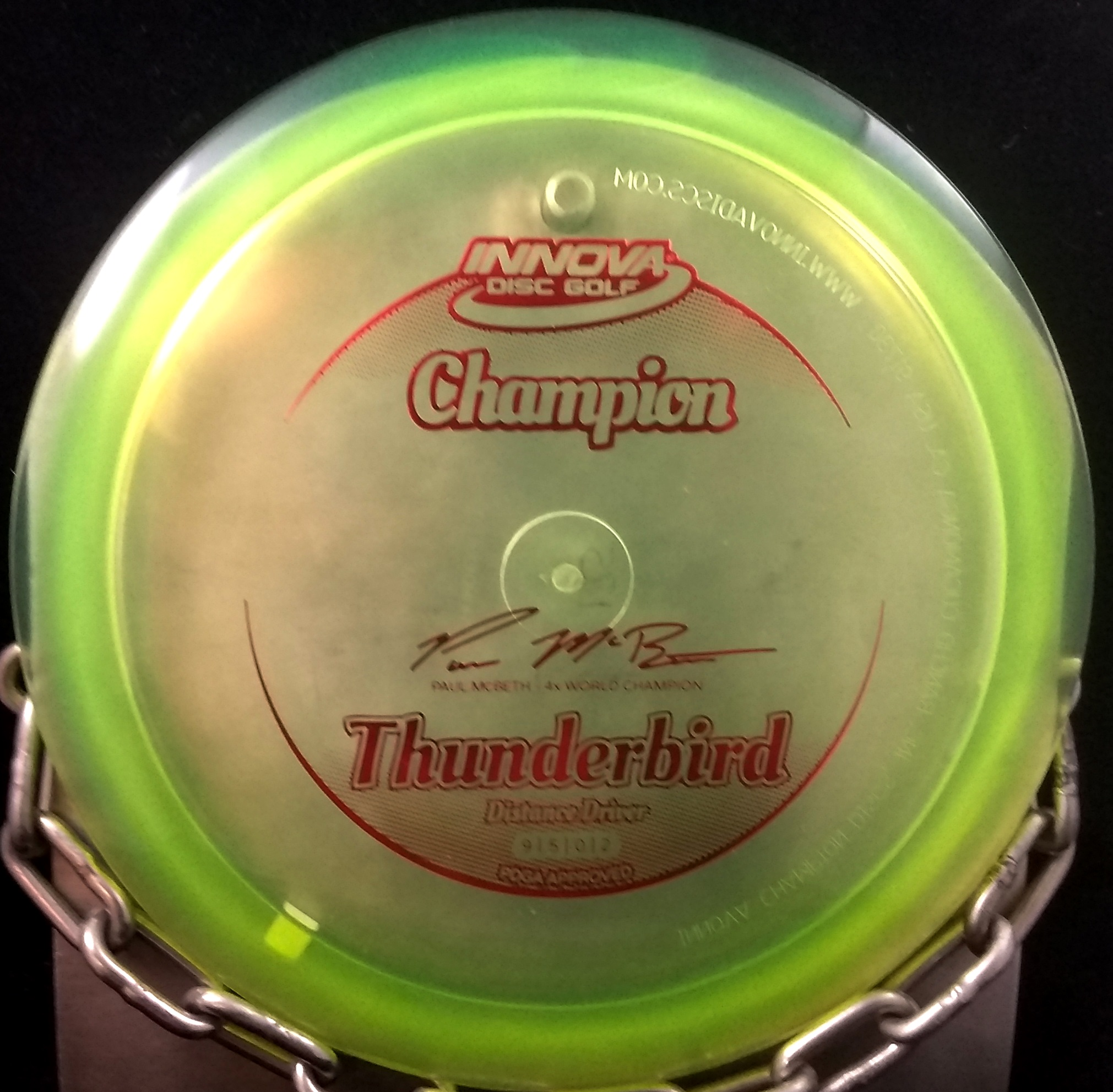Paul McBeth 4 Time World Champion Innova Thunderbird Golf Disc