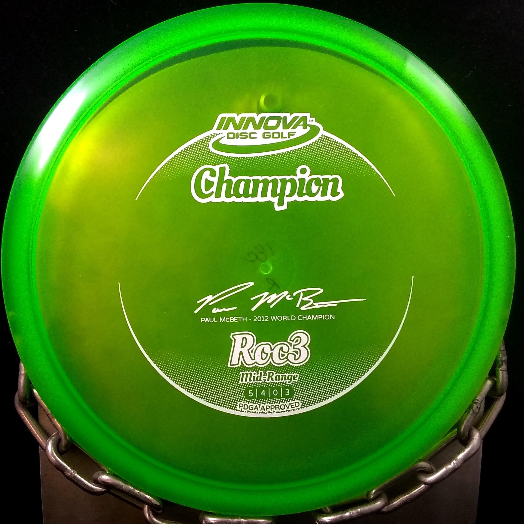 Paul McBeth 2012 1 Time World Champion ROC3 Innova Golf Disc