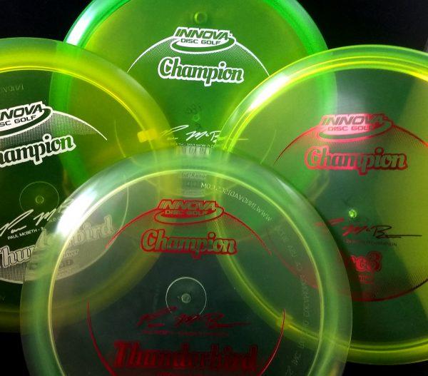Paul McBeth 1 thru 4 Time World Champion Innova Golf Disc Set