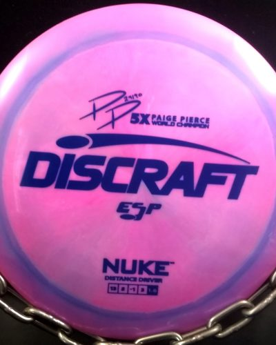 Discraft Page Pierce 5 Time World Champion Signature Series Swirly ESP NUKE Golf Disc