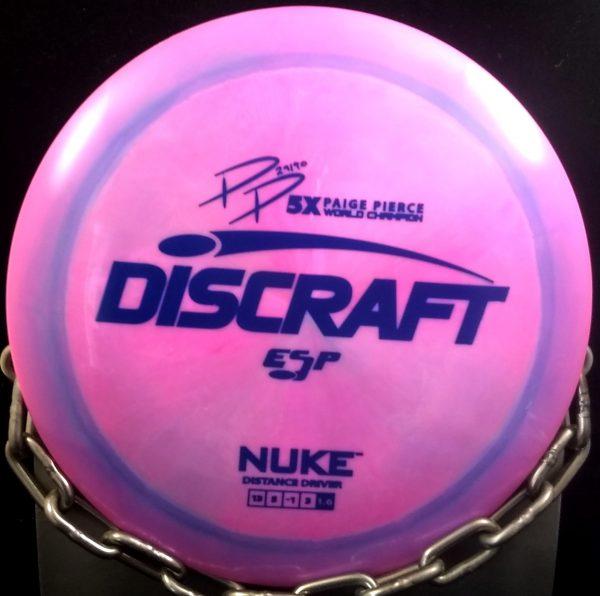 Discraft Page Pierce 5 Time World Champion Signature Series Swirly ESP NUKE Golf Disc