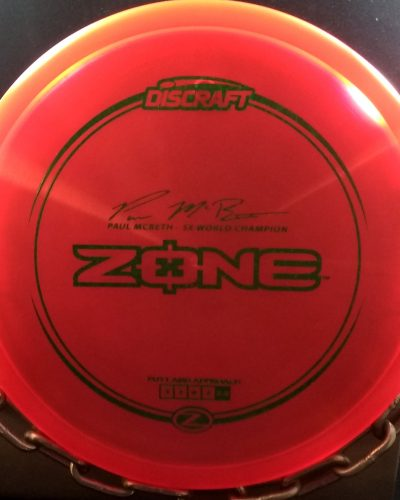 Discraft Paul McBeth 5 Time World Champion Signature Series Z ZONE Golf Disc