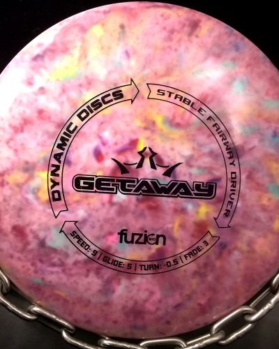 Dynamic Discs Fuzion Tripps Fly Dye GETAWAY Golf Disc Fairway Driver