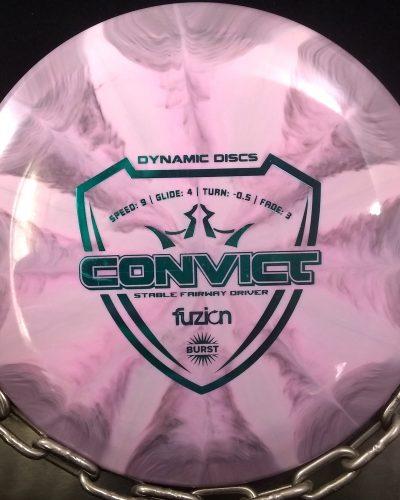 Dynamic Discs Fuzion CONVICT Golf Disc Fairway Driver