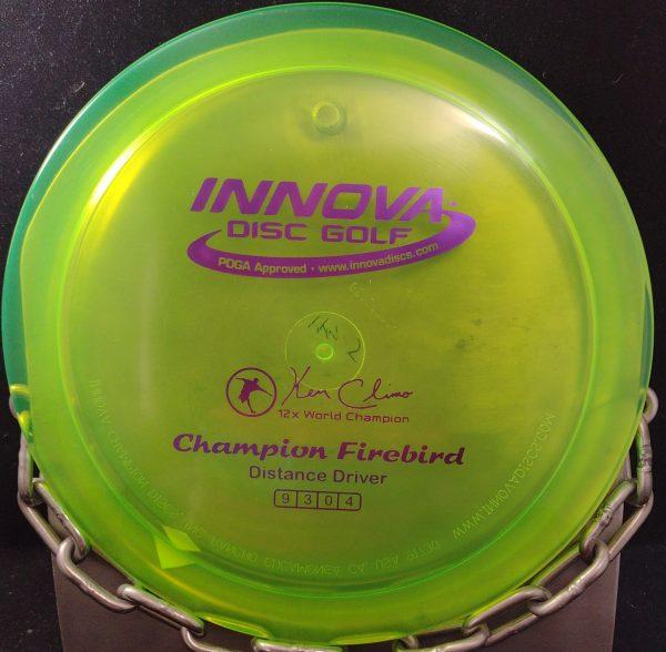 Ken Climo 12 Time World Champion FIREBIRD Golf Disc Driver