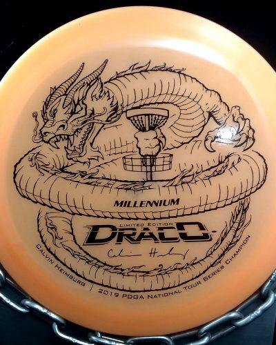 Limited Edition Millennium Calvin Heimburg Lunar (Glow) Flat Top Quantum DRACO Golf Disc Driver