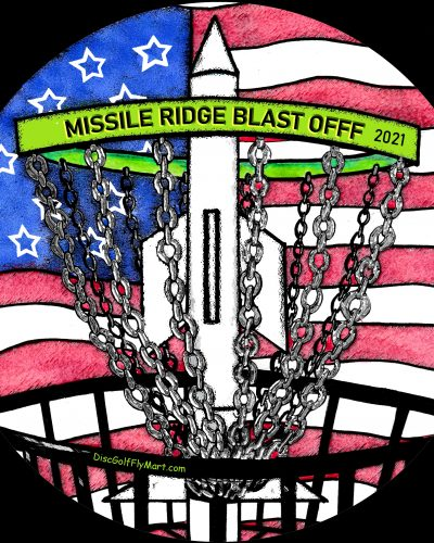 Discraft Full Color Missile Ridge Blast Off 2021 ESP BUZZZ Mid Range Golf Disc