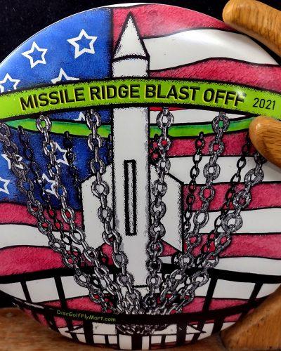 Discraft Full Color Missile Ridge Blast Off 2021 ESP BUZZZ Mid Range Golf Disc