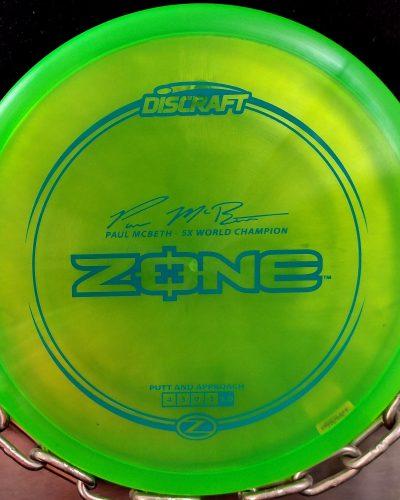 Discraft Paul McBeth 5 Time World Champion Signature Series Z ZONE Golf Disc Putter