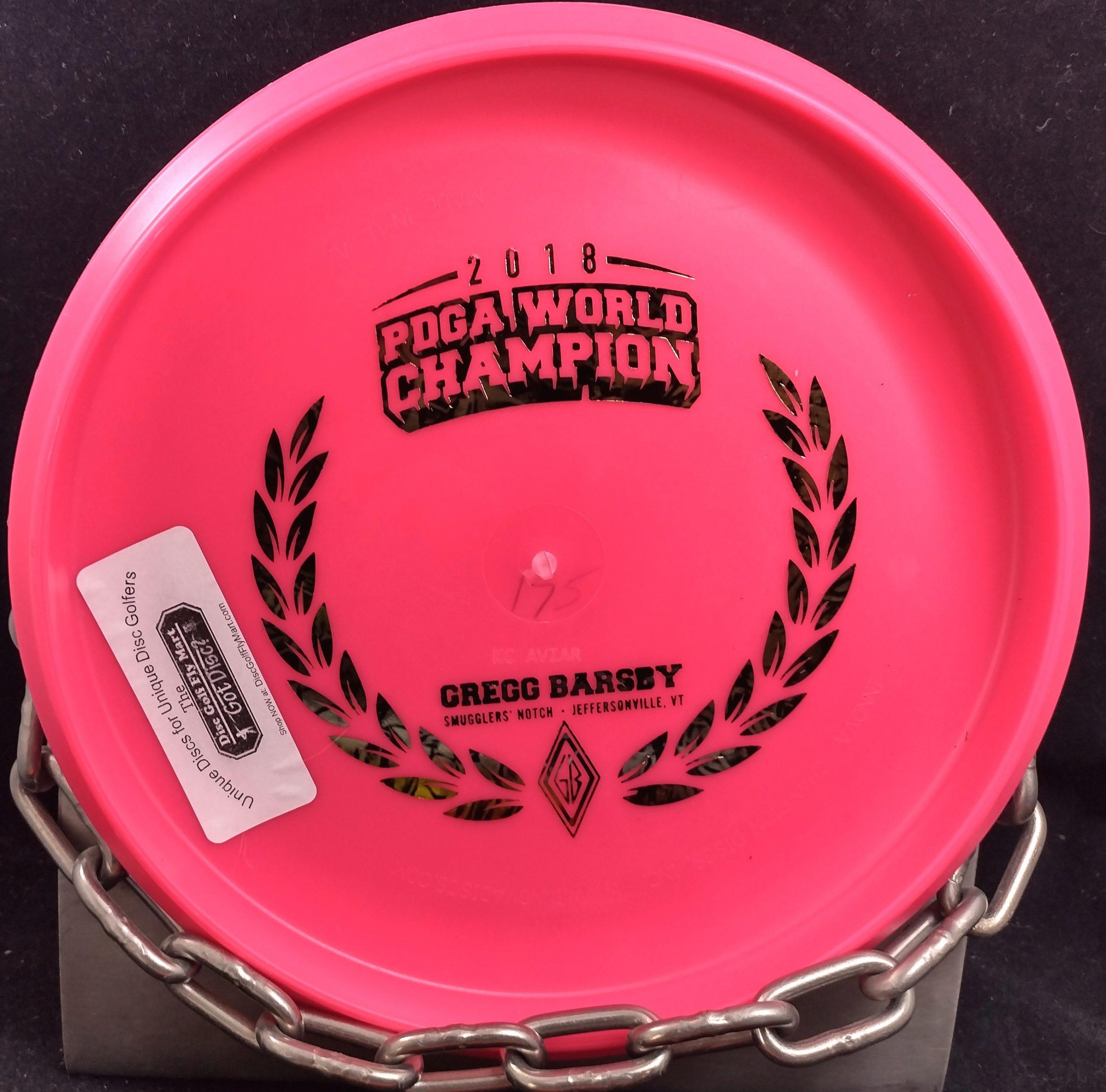 Innova Gregg Barsby 2018 World Champion Commemorative KC Pro Aviar Big Bead Putter Golf Disc