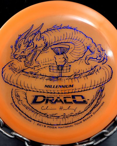 Limited Edition Millennium Calvin Heimburg Lunar (Glow) Flat Top Quantum DRACO Disc Golf Driver