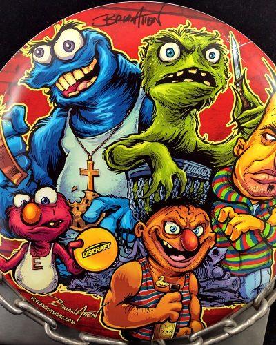 Discraft Sesame Street Parody Supercolor ESP BUZZZ Mid Range Golf Disc