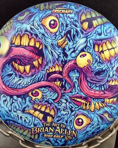 Discraft Eyeballs and Teeth Supercolor ESP BUZZZ Mid Range Golf Disc