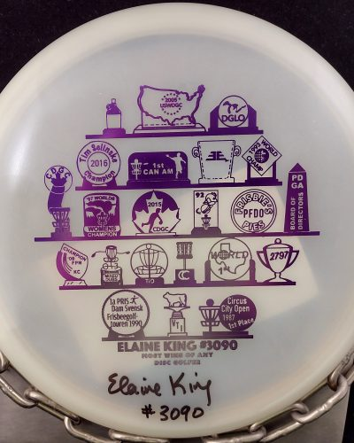 Discraft Autographed #6 of 50 Discraft Elaine King 'Most Wins of Any Disc Golfer' Z BUZZZ Mid Range Golf Disc