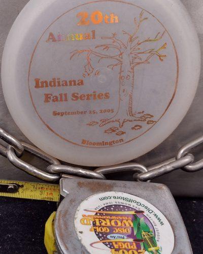 2005 20th Annual Indiana Fall Series MINI Disc Golf Marker