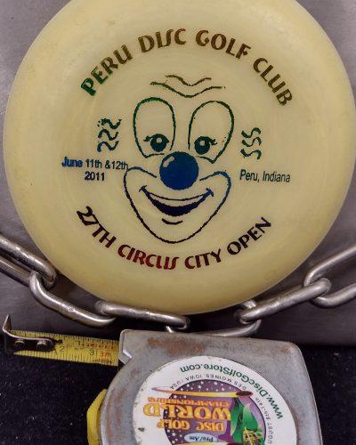 Zing 2011 Circus City Open Peru Disc Golf Club MINI Disc Golf Marker