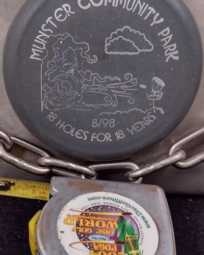 Little Flyer 1998 Munster Community Park 18 Holes for 18 Years MINI Disc Golf Marker