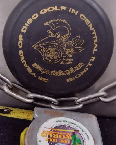 Little Flyer 25 Years of Peoria Disc Golf MINI Disc Golf Marker