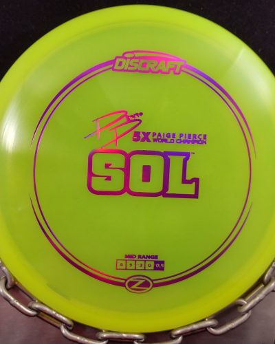 Discraft Paige Pierce 5 X World Champion Z SOL Mid Range Golf Disc