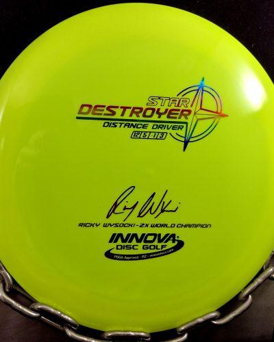 Innova Ricky Wysocki 2 Time World Champion Star DESTROYER Golf Disc,