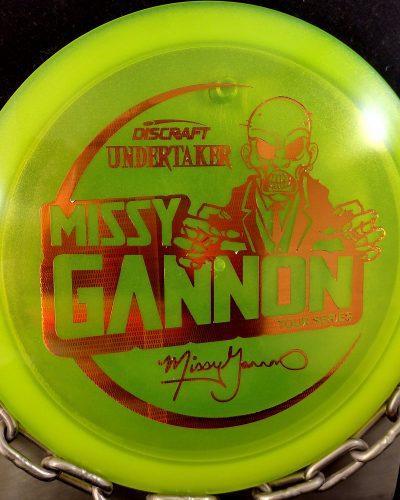 Discraft Missy Gannon Tour Series Z UNDERTAKER Disc Golf Driver