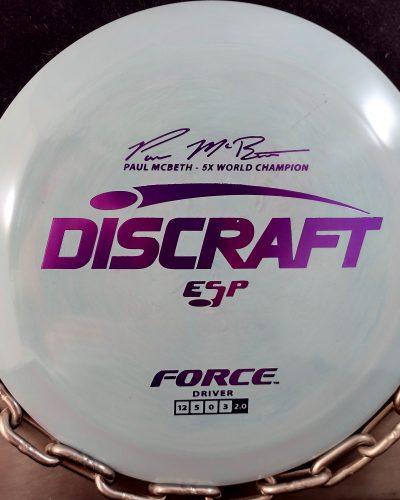 Discraft Paul McBeth 5 Time World Champion ESP FORCE Golf Disc Driver
