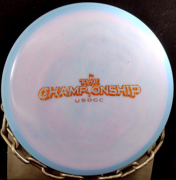 Innova 2021 United States Disc Golf Championship Ontario Mold (w/ Patent Numbers) Swirly Star ROC Mid Range Golf Disc